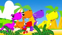 SHARK BUS SONG | Baby Car | Dance with Baby T-Rex, Apples