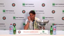Rafa Nadal shares his thoughts after claiming his 12th French Open title