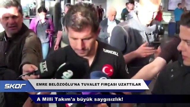 Emre Belözoğlu'na büyük saygısızlık!