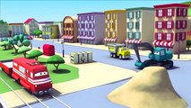 Ethan The Dump Truck and his friends in Car City: Tom The Tow Truck, Troy The Train, Super Truck...