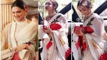 Malaika Arora looks beautiful in Saree copied from Deepika Padukone; Watch Video | Boldsky