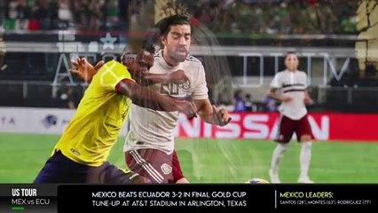 Mexico beats Ecuador 3-2 in final Gold Cup tune-up