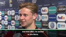 De Jong 'excited' to start life at Barca