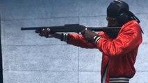 Presnel Kimpembe s'entraîne à tirer… avec des armes à feu