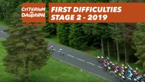 First Difficulties - Étape 2 / Stage 2 - Critérium du Dauphiné 2019