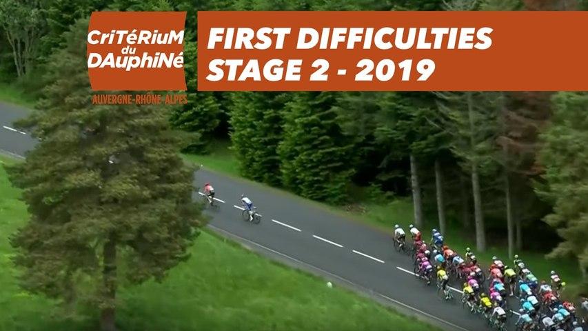 First Difficulties - Étape 2 / Stage 2 - Critérium du Dauphiné 2019
