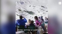 That viral video of a family fleeing an avalanche is totally false