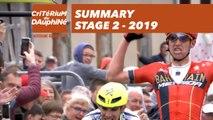 Summary - Stage 2 - Critérium du Dauphiné 2019