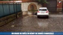 Marseille : un orage de grêle s'est abattu dans le centre-ville