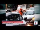 Taxista destrozó el parabrisas de un automovilista en Coapa | Noticias con Ciro Gómez Leyva
