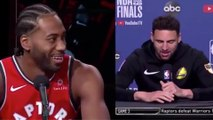 Klay Thompson MOCKS Kawhi Leonard's Laugh As He Gets Cocky Before Game 5!