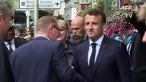 """Macron concède n'avoir """"pas assez"""" parlé d'art au grand débat"""