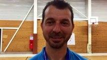Finale Coupe LAuRA Futsal – Rami TEMIMI, l'arbitre de FC MONT D'OR - COURNON Futsal, réagit après la rencontre