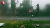 Haziran ayında 6 cm'lik dolu yağdı!