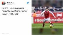 Stade de Reims. Arber Zeneli victime d'une rupture des ligaments croisés