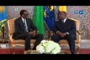 RTG/Visite de travail du Président du Rwanda Paul Kagame au Gabon