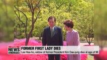 Lee Hee-ho, widow of former President Kim Dae-jung dies at age of 96