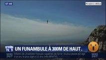 Dans les Alpes-Maritimes, ces funambules se lancent sur une slackline à 300 mètres du sol
