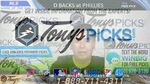 Diamondbacks vs Philles MLB Pick 6/11/2019