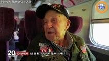 75 ans après, un soldat américain  et une française qu'il a aimée  pendant la guerre se retrouvent !