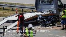 Wypadek na A1. Zablokowała zjazd z S8 na A1 na węźle Łódź Południe