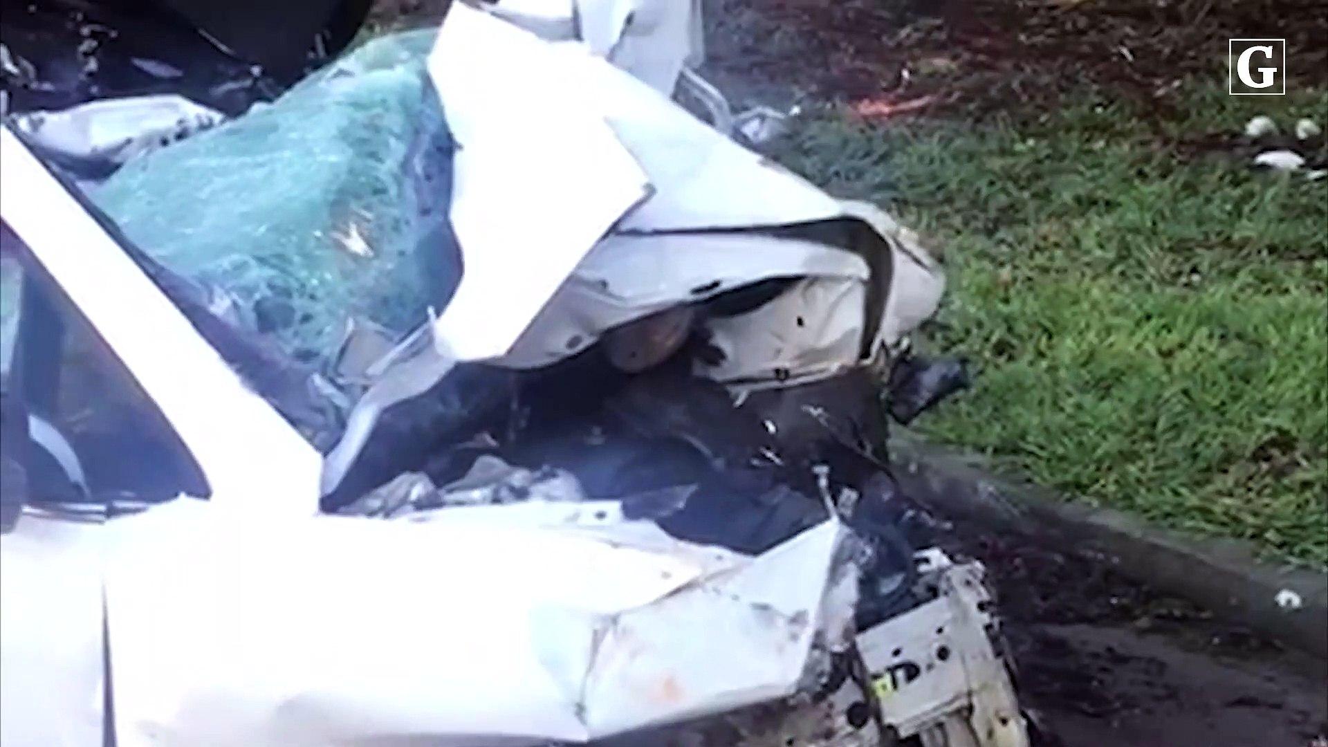 BR 101: bloco de granito cai sobre carro e mata família no ES