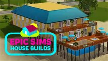 Epic Sims House Builds: A stunning beach house time lapse