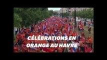 Coupe du monde féminine: les supporters néerlandais ont enflammé les rues du Havre