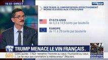 Pourquoi Trump menace-t-il de s'en prendre au vin français ?