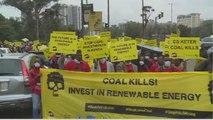 Mobilisation à Nairobi au Kenya contre la construction d'une centrale électrique au charbon