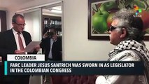 FARC Leader Jesus Santrich Sworn In As Legislator