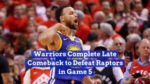 The Warriors Narrowly Escape With Game 5 Of The Finals