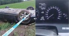 Condutor atinge 260 km/h no seu Lexus, provoca acidente e foge do local