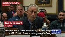 'Shameful': Jon Stewart Tears Into 'Nearly Empty' Congress During 9/11 First Responders Hearing