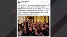 Obama Tweets Support For Women's National Soccer Team With Throwback Photo