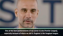 Guardiola rates Premier League as toughest he's managed in