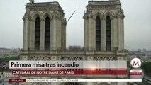 A 2 meses de incendio, Notre Dame tendrá su primera misa el sábado
