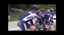 En stage avec l'Équipe de France juniors en Maurienne
