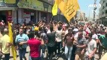 تشييع مسعف فلسطيني توفي متأثرا بجروح نتيجة إصابته بنيران إسرائيلية