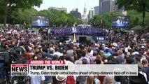 Trump, Biden trade verbal barbs ahead of long-distance face-off in Iowa