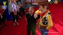 Tom Hanks and Woody Buddy Up on the 'Toy Story 4' Red Carpet