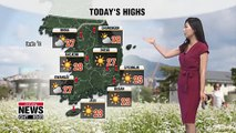 Sporadic rain in southern inland regions, hot and sunny for rest 061219