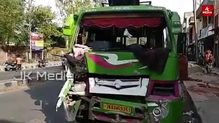 Two injured in multi vehicle collision on College road near Boys Hostel GDC #Kathua