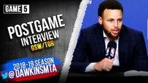 Stephen Curry Postgame Interview - Game 5 - Raptors vs Warriors - 2019 NBA Finals