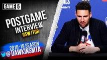 Klay Thompson Postgame Interview - Game 5 - Raptors vs Warriors - 2019 NBA Finals
