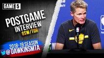 Steve Kerr Postgame Interview - Game 5 - Raptors vs Warriors - 2019 NBA Finals