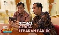 Cerita Soal Lebaran, Jokowi Ngevlog Bareng JK