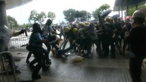 Violence breaks out in Hong Kong over extradition bill debate