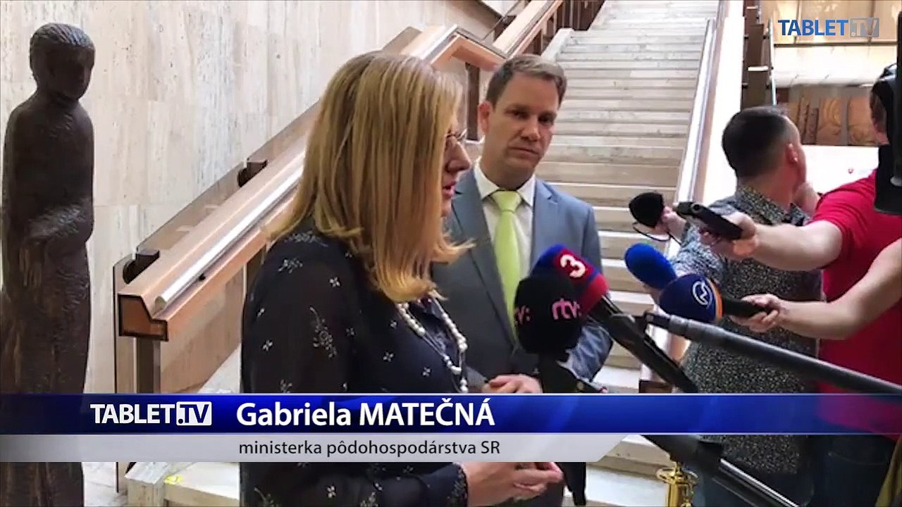 ZÁZNAM: Brífing ministerky pôdohospodárstva Gabriely Matečnej