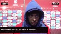 France – Andorre : Kylian Mbappé agacé par un adversaire en zone mixte (Vidéo)